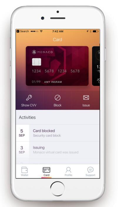 Monaco(MOC)您的全球手机电子钱包